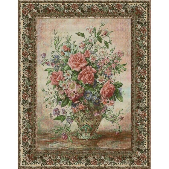 Гобелен Букет роз (бордюр)