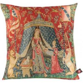 Декоративная подушка Дама с единорогом. Мое единственное желание