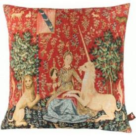 Декоративная подушка Дама с единорогом. Взгляд