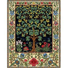 Гобелен Дерево жизни зеленое