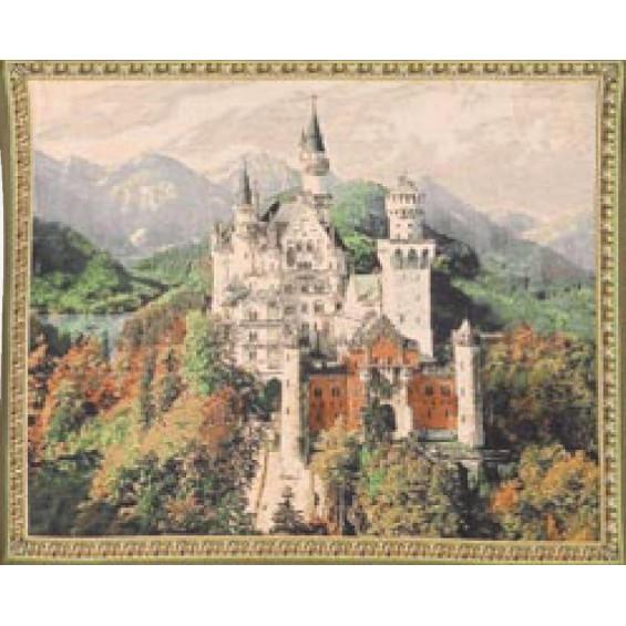 Гобелен Замок Нойшванштайн (серый фон)