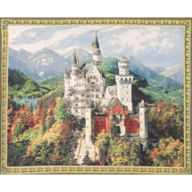 Гобелен Замок Нойшванштайн (нежно голубой фон)