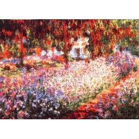 Гобелен Ирисы в саду (Клод Моне)
