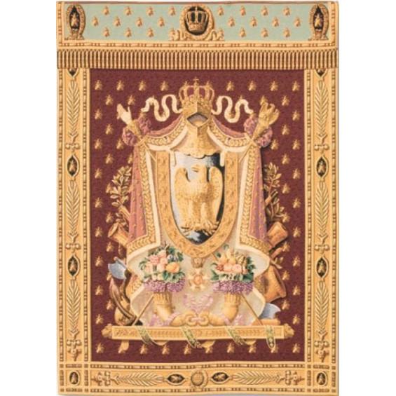 Гобелен Герб Наполеона (бордовый фон)