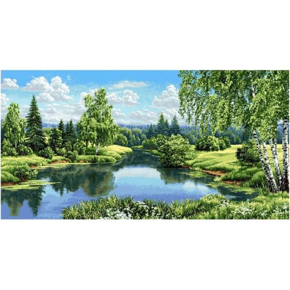 Гобелен Пейзаж с берёзами