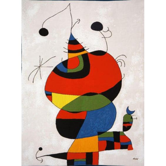 Гобелен Женщина и птица (Хуан Миро)