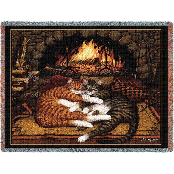 Гобелен Вымотанные коты