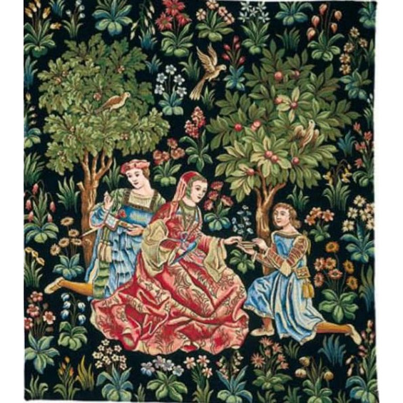 Гобелен Дама в саду