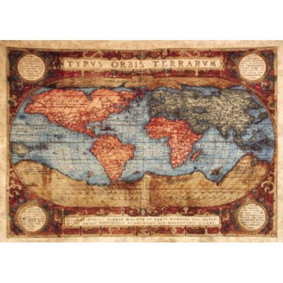 Гобелен Карта цветная