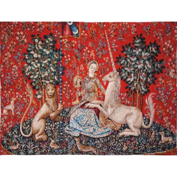 Гобелен Дама со львом и единорогом