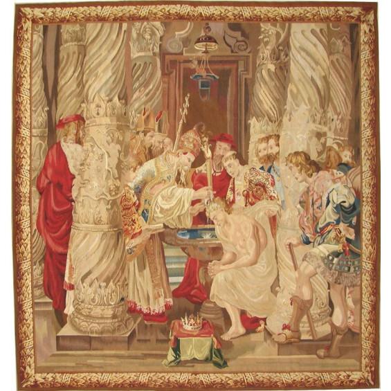 Гобелен ручной работы Крещение Константина