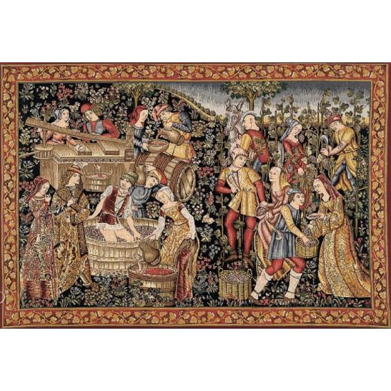 Гобелен Сбор винограда (фрагмент)