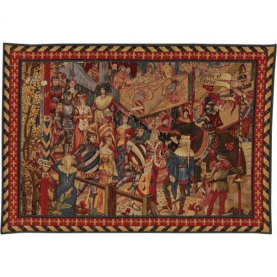 Гобелен Турнир рыцарей короля (фрагмент 2)
