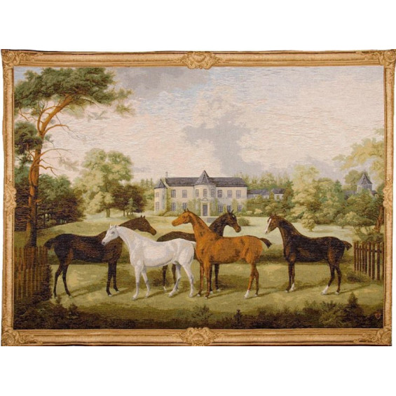 Гобелен Лошади английской породы