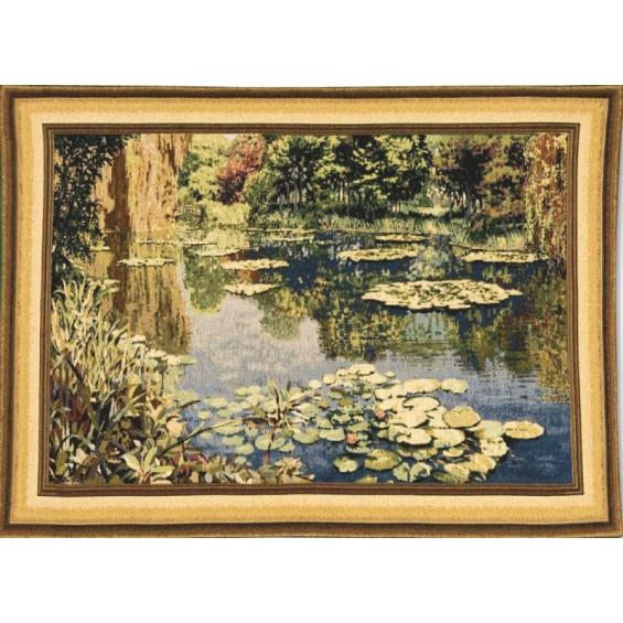 Гобелен Озеро Живерни золотистый бордюр (Клод Моне)