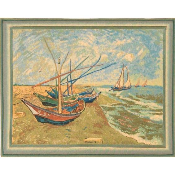 Гобелен Лодки (Ван Гог)